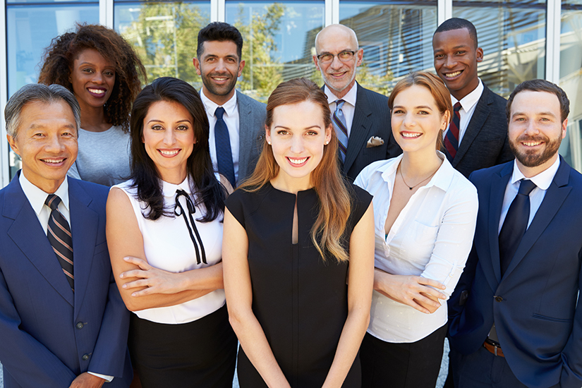 Outdoor Portrait Of Multi-Cultural Business Team